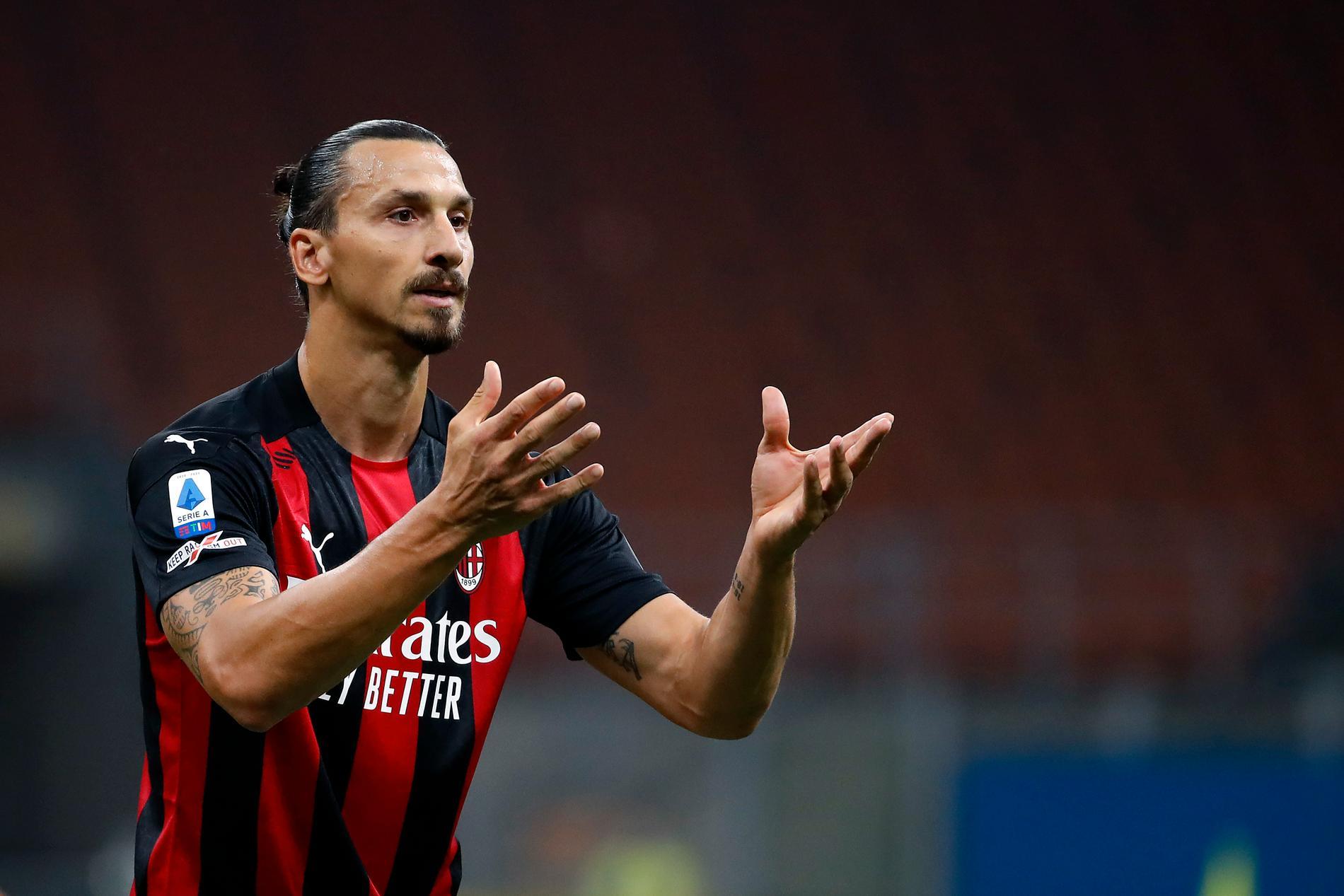 Zlatan Ibrahimovic är med i truppen i derbyt mot Inter. Arkivbild.