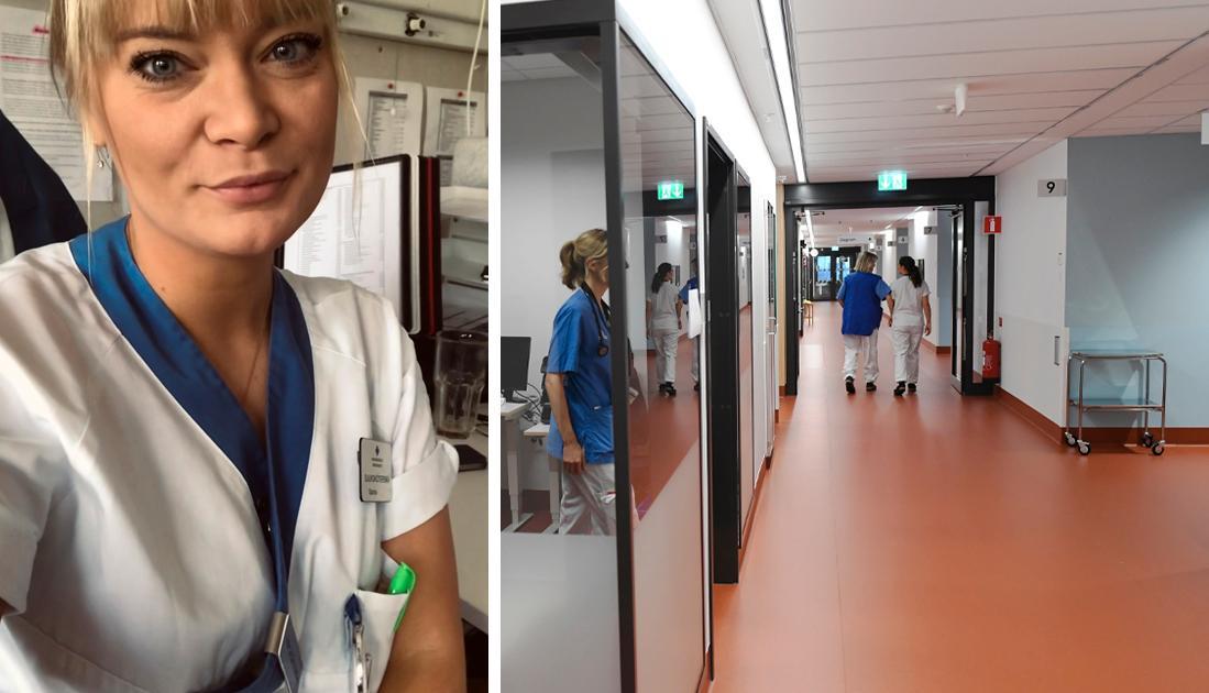 IVA-personalen och personalen på akutmottagningen har fått all cred i media, och det ska de ha. De har slitit som djur. MEN. Det har vi också. Vi på vårdavdelningarna. Vi jobbar också mastodontpass, vi sliter också som djur. Vi bör också uppmärksammas, skriver Sandra Larsson, specialistsjuksköterska.