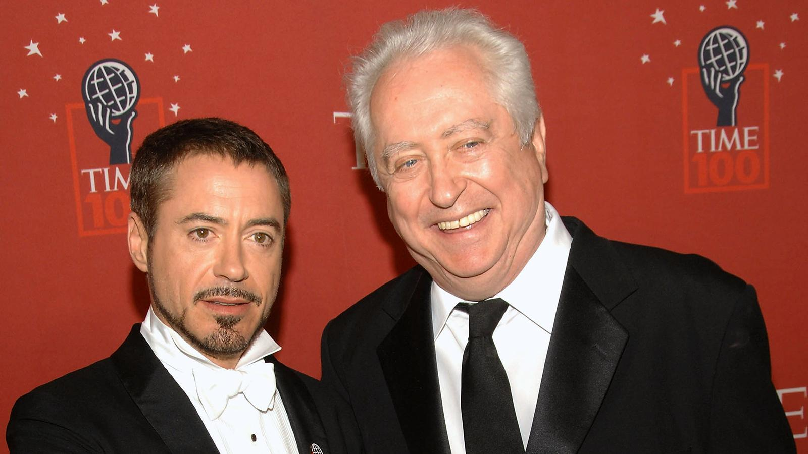 Robert Downey Jr och Robert Downey Sr 2008.