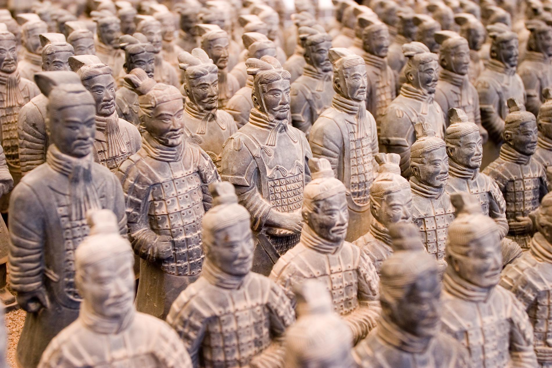 I Xi'an finns tusentals terrakottasoldater.