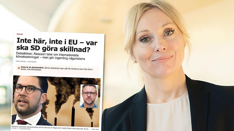 Tanken att ett CO2-neutralt Europa ska få resten av världen att komma efter är naiv. Verkligheten visar att satsningar på klimat och miljö i stället ökar i takt med välstånd och ekonomisk utveckling, skriver Jessica Stegrud, SD.