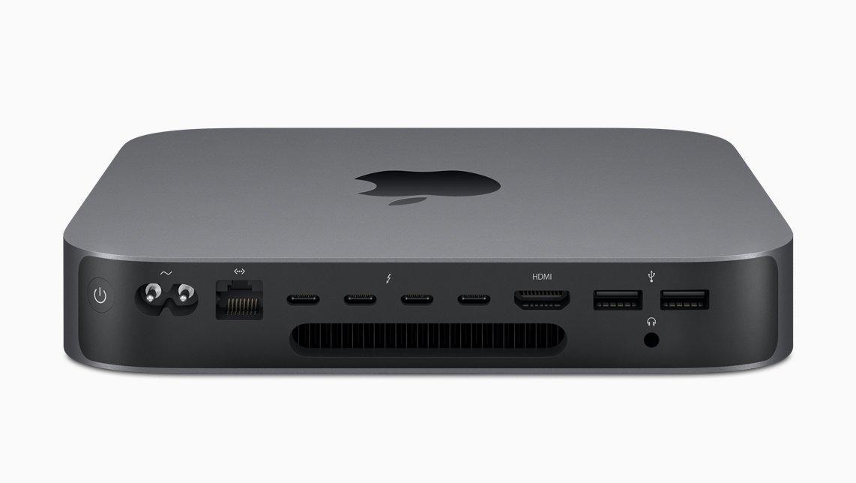 Nya Mac Mini har många portar på baksidan.