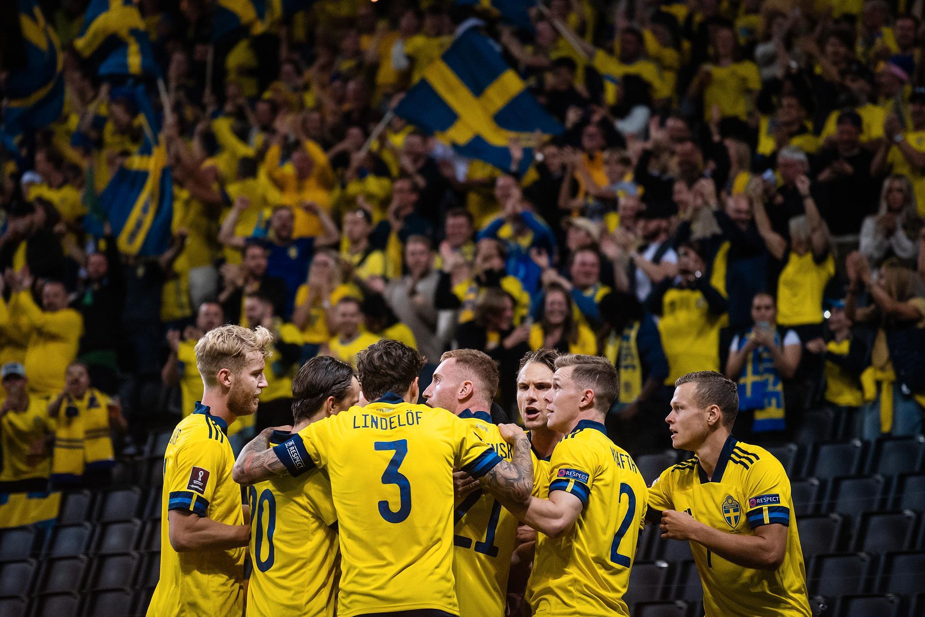 Sverigevrålet efter kvitteringen mot Spanien.