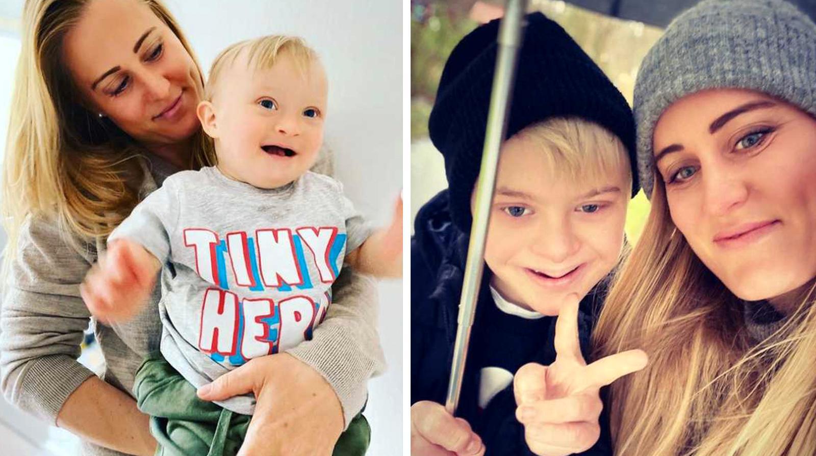 Emily är mamma till två barn med Downs syndrom.