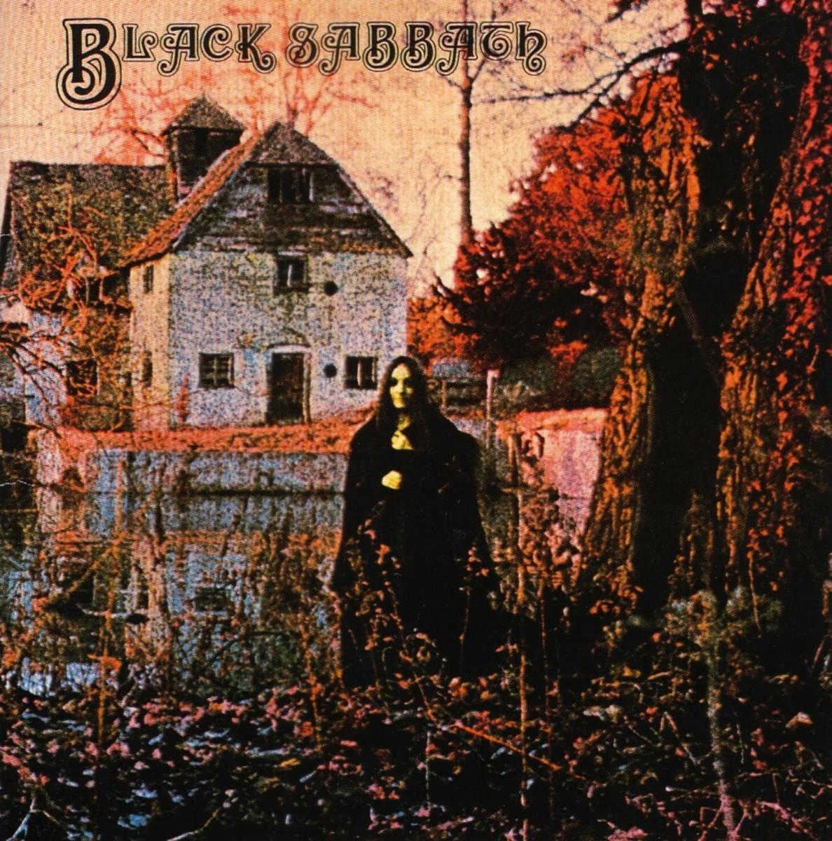 """Del av omslaget till Black Sabbaths """"Black Sabbath"""". Läskigt så det förslår."""