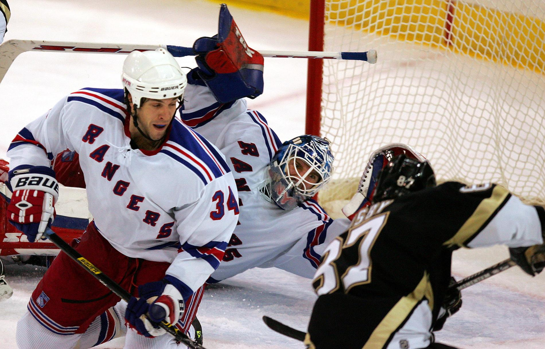 Henrik Lundqvist och Sidney Crosby 2005.