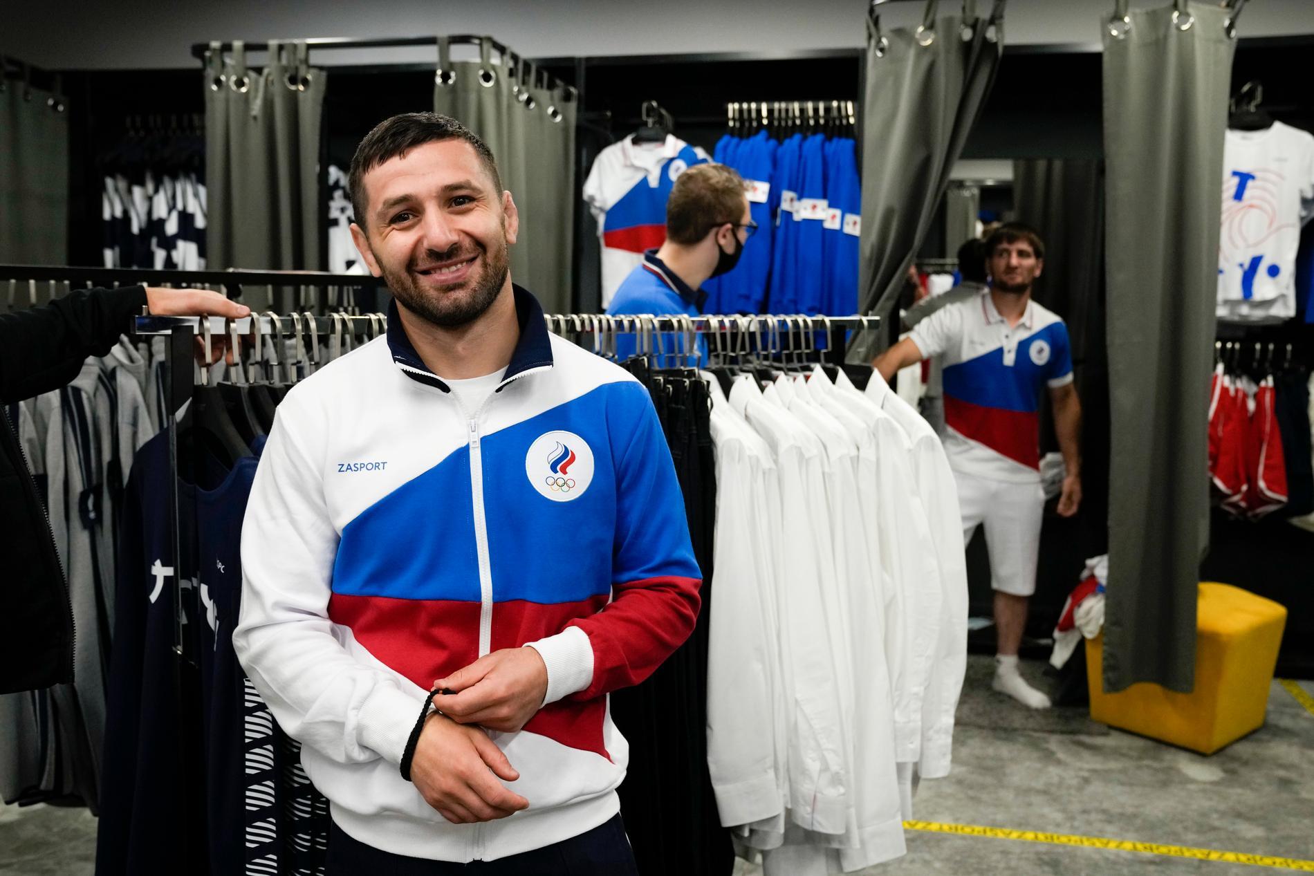 De ryska olympiernas tävlingskläder.