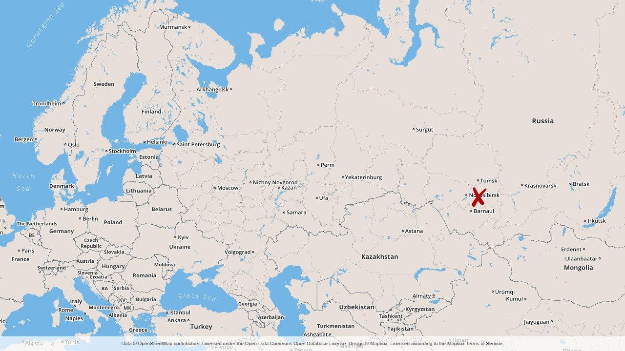 Ett mindre flygplan har kraschat i den ryska regionen Kemerovo.