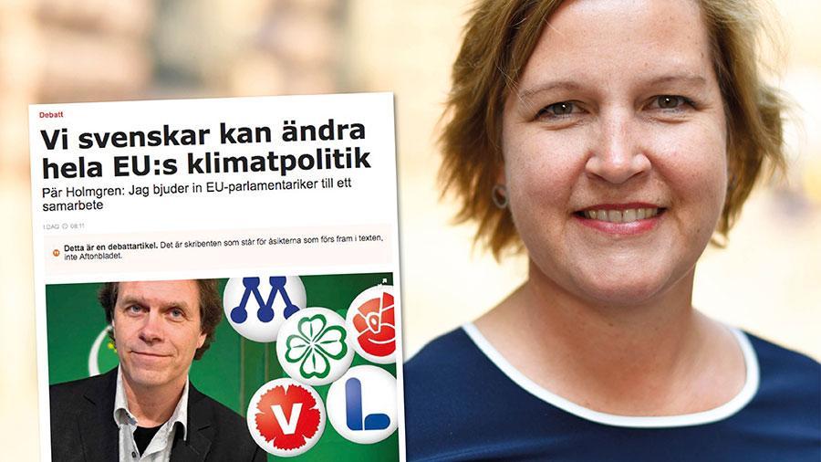Jag har inga problem med att säga ja till ambitiösa klimatmål som är i linje med vetenskapen. Men då förväntar jag mig att Miljöpartiet slutar säga nej till lösningarna, skriver Karin Karlsbro.