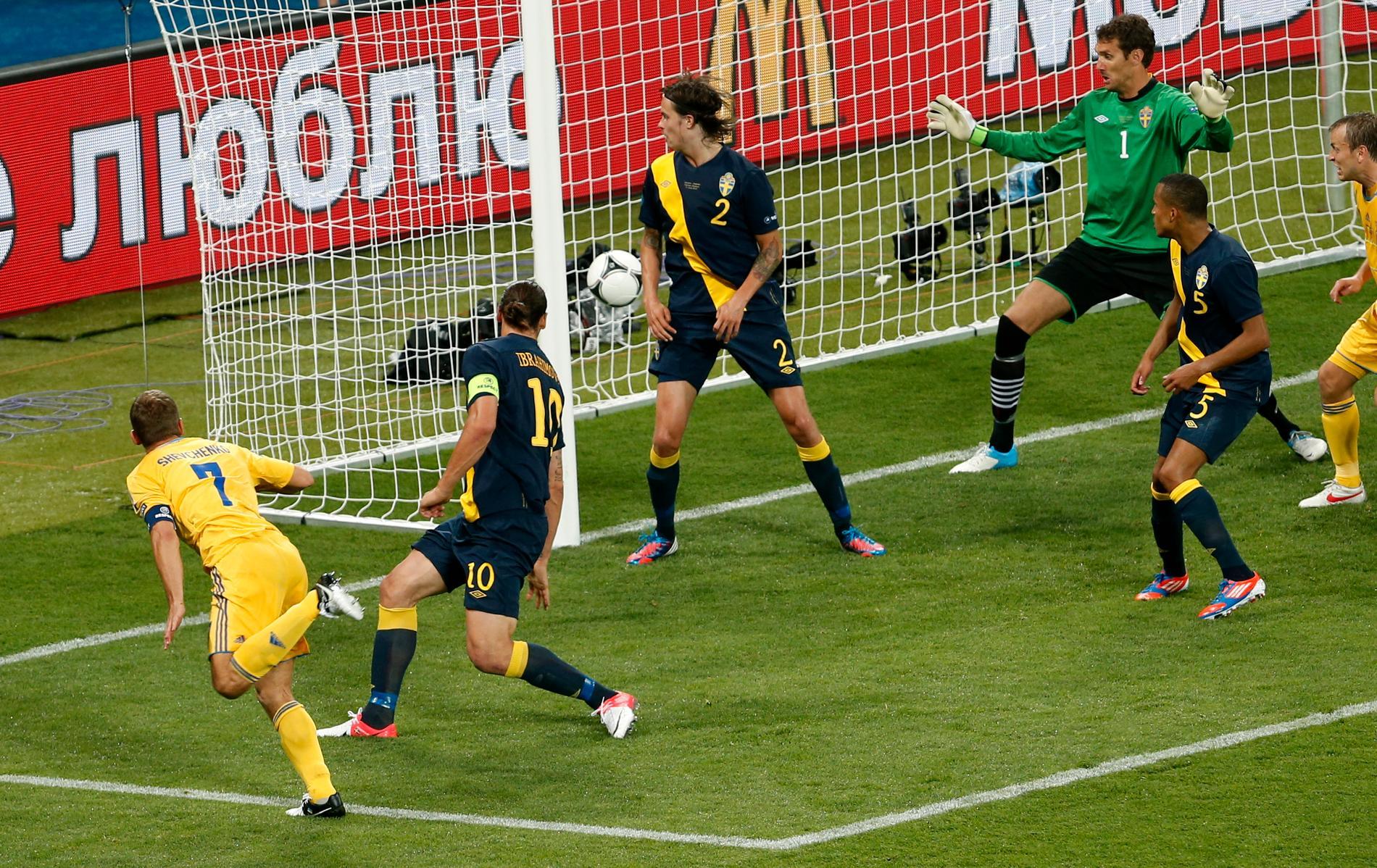 Senast Sverige mötte Ukraina i EM.