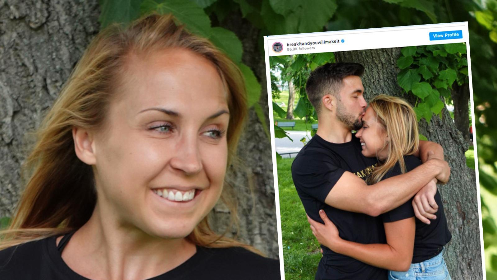 Elin Härkönen visar upp si g med nya pojkvännen Anthony på Instagram.