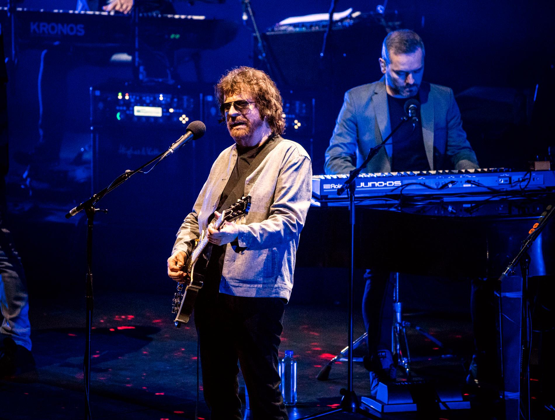 Jeff Lynne på Globen i Stockholm den 12 september i fjol.