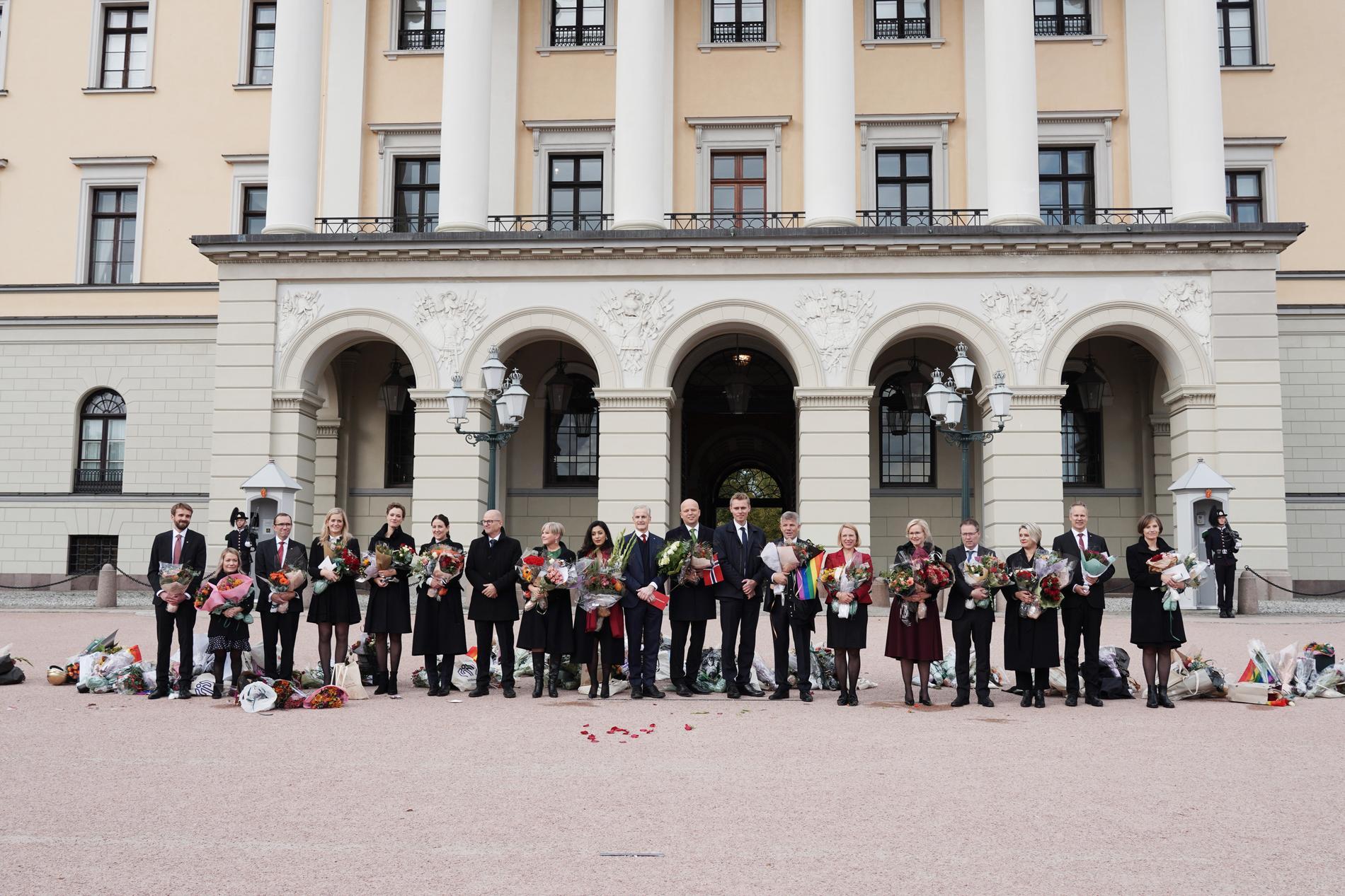 Den nytillträdda norska regeringen.
