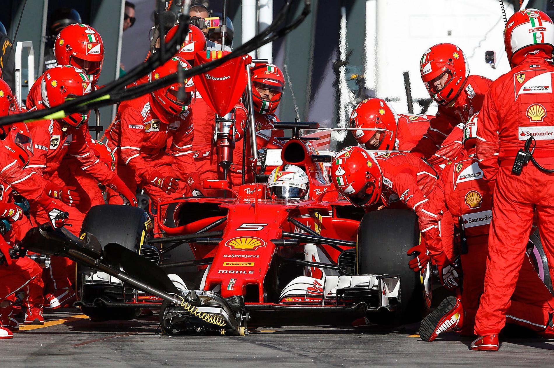 TESTKUNGEN Ferraris Sebastian Vettel testade däcken mer än någon annan förare inför årets F1-säsong.