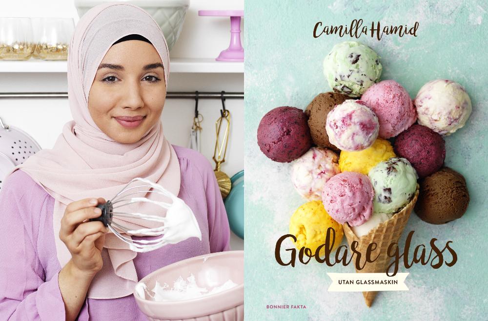 Camilla Hamid med sin nya bok Godare glass.