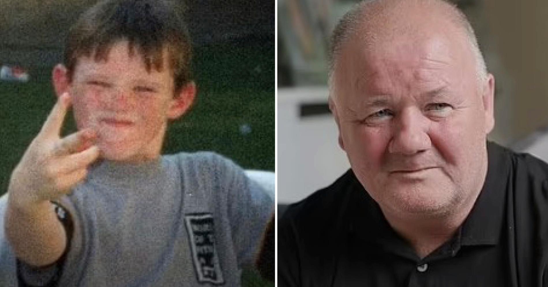 Wayne Rooney som liten och pappa Thomas Rooney.