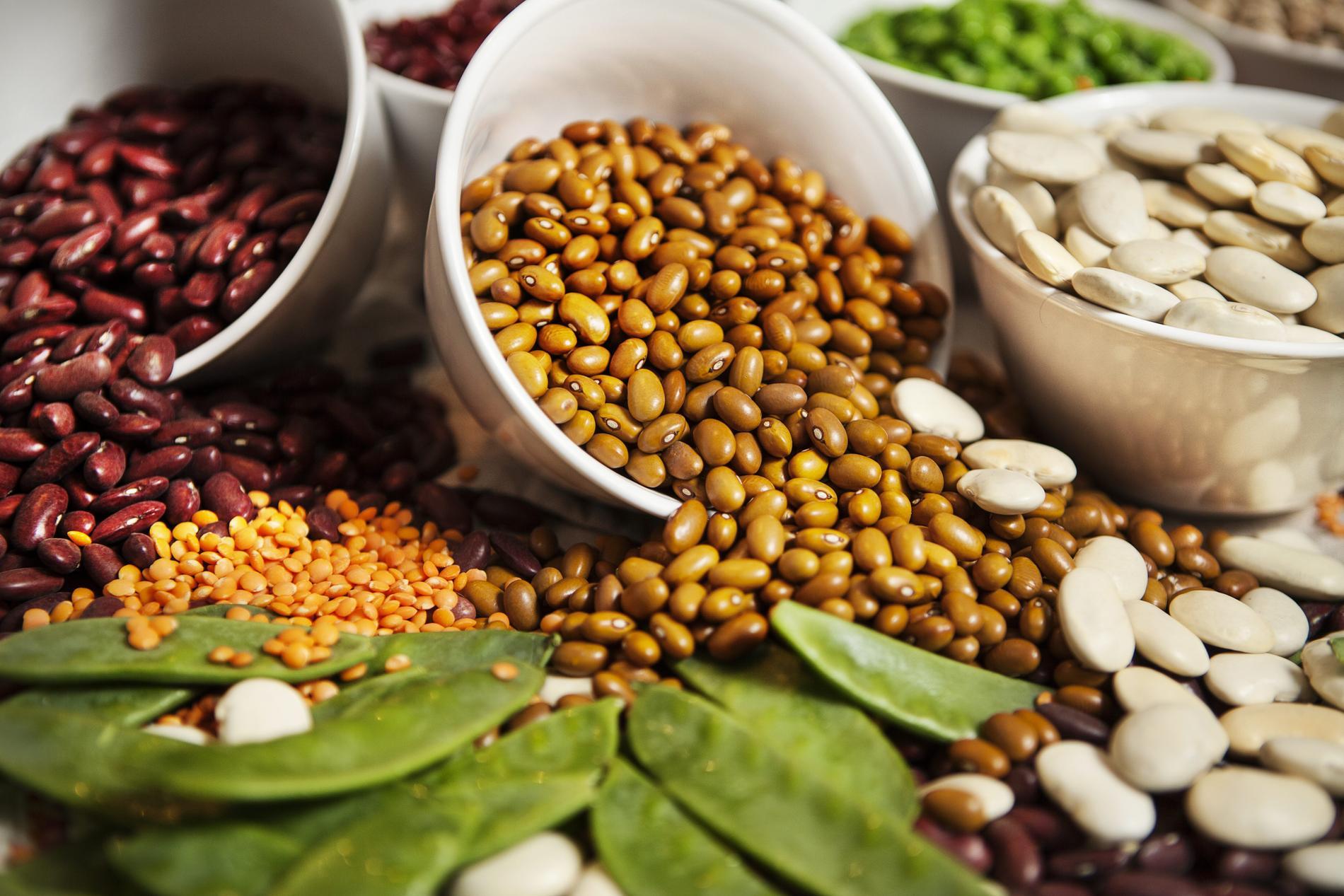 Baljväxter som bönor, linser och ärtor är mat som är både nyttig och klimatsmart.