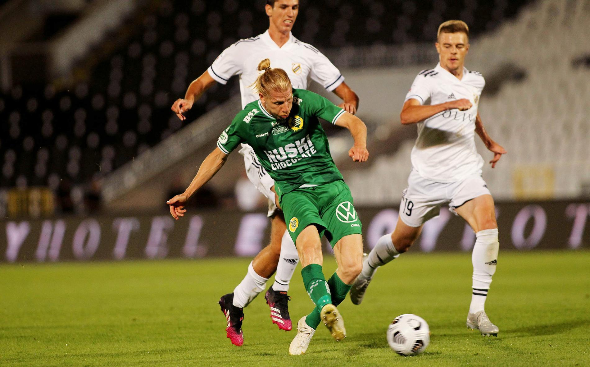 Hammarbys Gustav Ludwigsson gjorde lagets enda mål i förlusten.