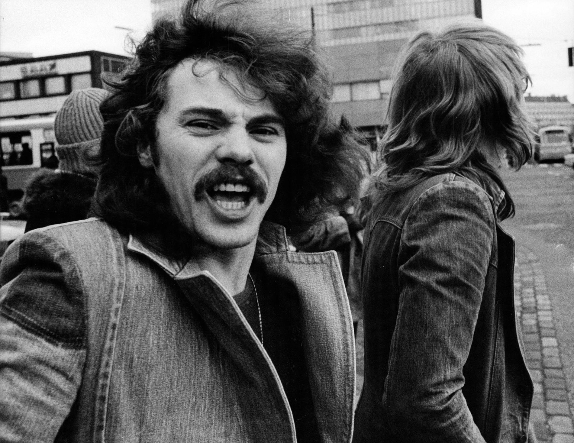 Status Quo med Alan Lancaster och Richard Parfitt  i Köpenhamn för en spelning på Tivoli 1976-02-06.