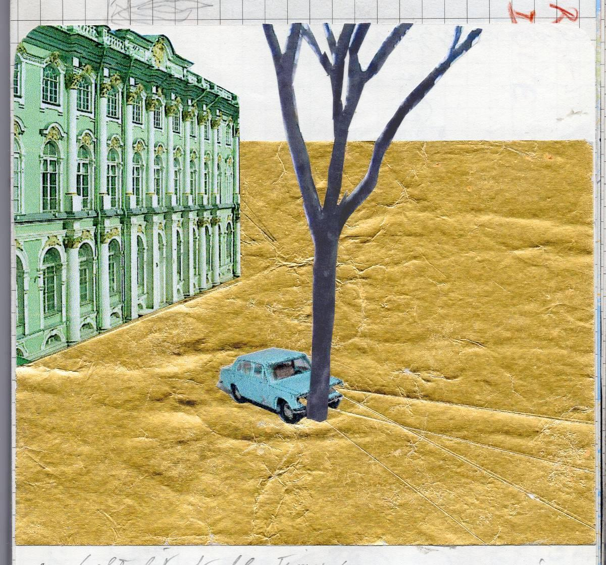 """Francis Alÿs skiss för """"Lada Kopeika Project"""" som visas på konstbiennalen i St Petersburg. Bilmodellen är full av symbolik för en publik från båda sidor järnridån, skriver Fredrik Svensk."""