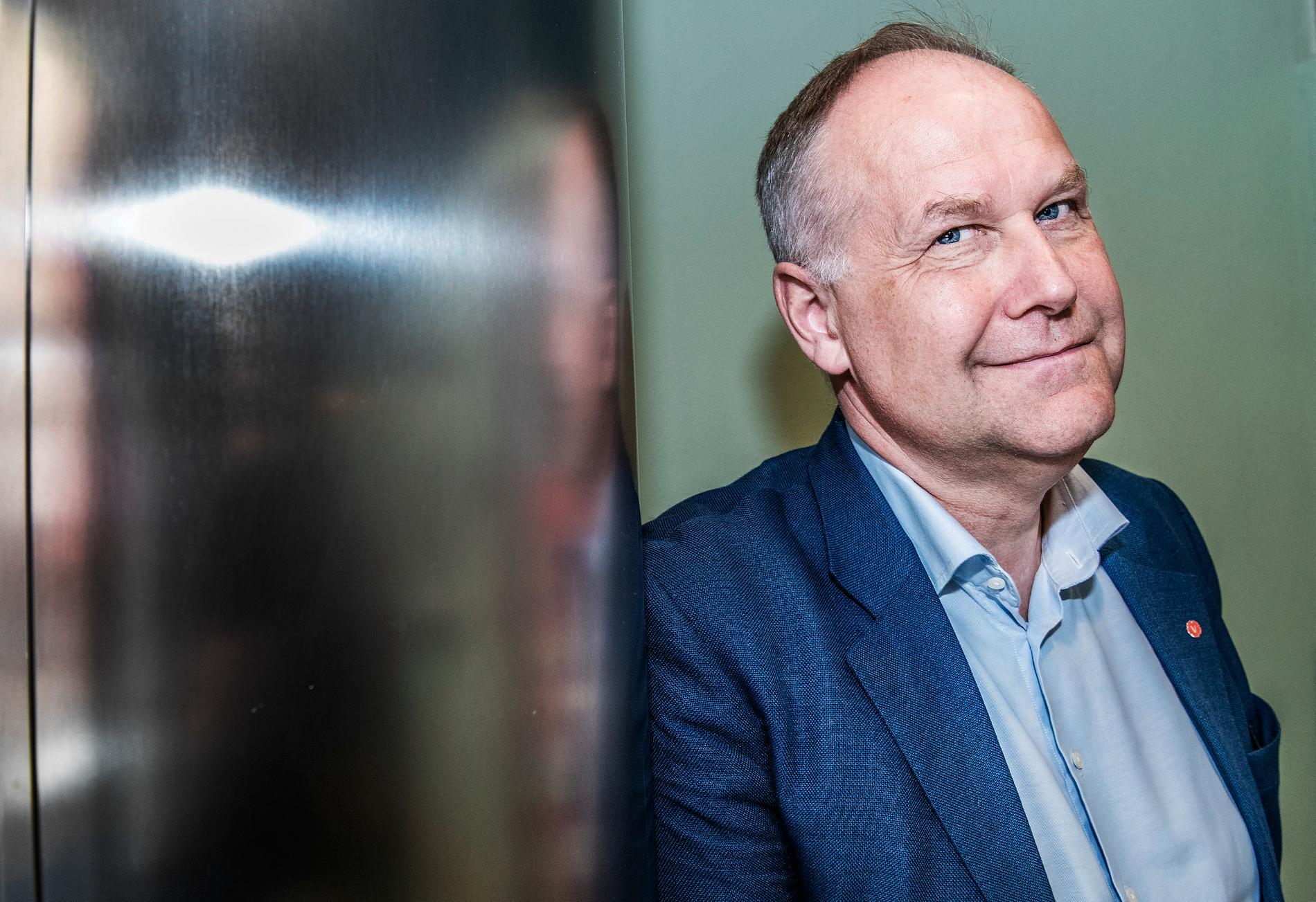 36 procent tillfrågade uppger att de har förtroende för Jonas Sjöstedt (V) som partiledare. Motsvarande siffra för Stefan Löfven är 35 procent. Arkivbild.