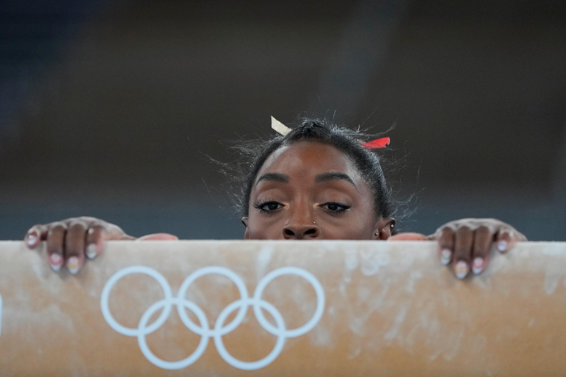 Simone Biles är illa ute i gymnastiken.
