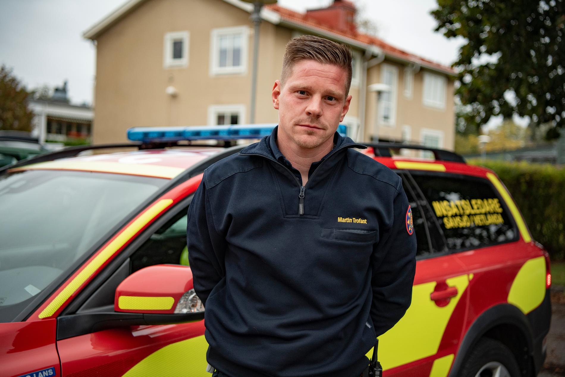 Martin Trofast, insatsledare på räddningstjänsten.
