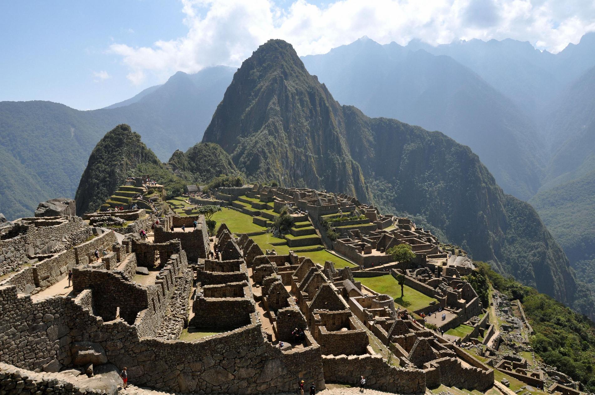 Inkastaden Machu Picchu, 80 kilometer nordväst om Cusco i södra Peru, upptogs på Unescos världsarvslista 1983. Arkivbild.