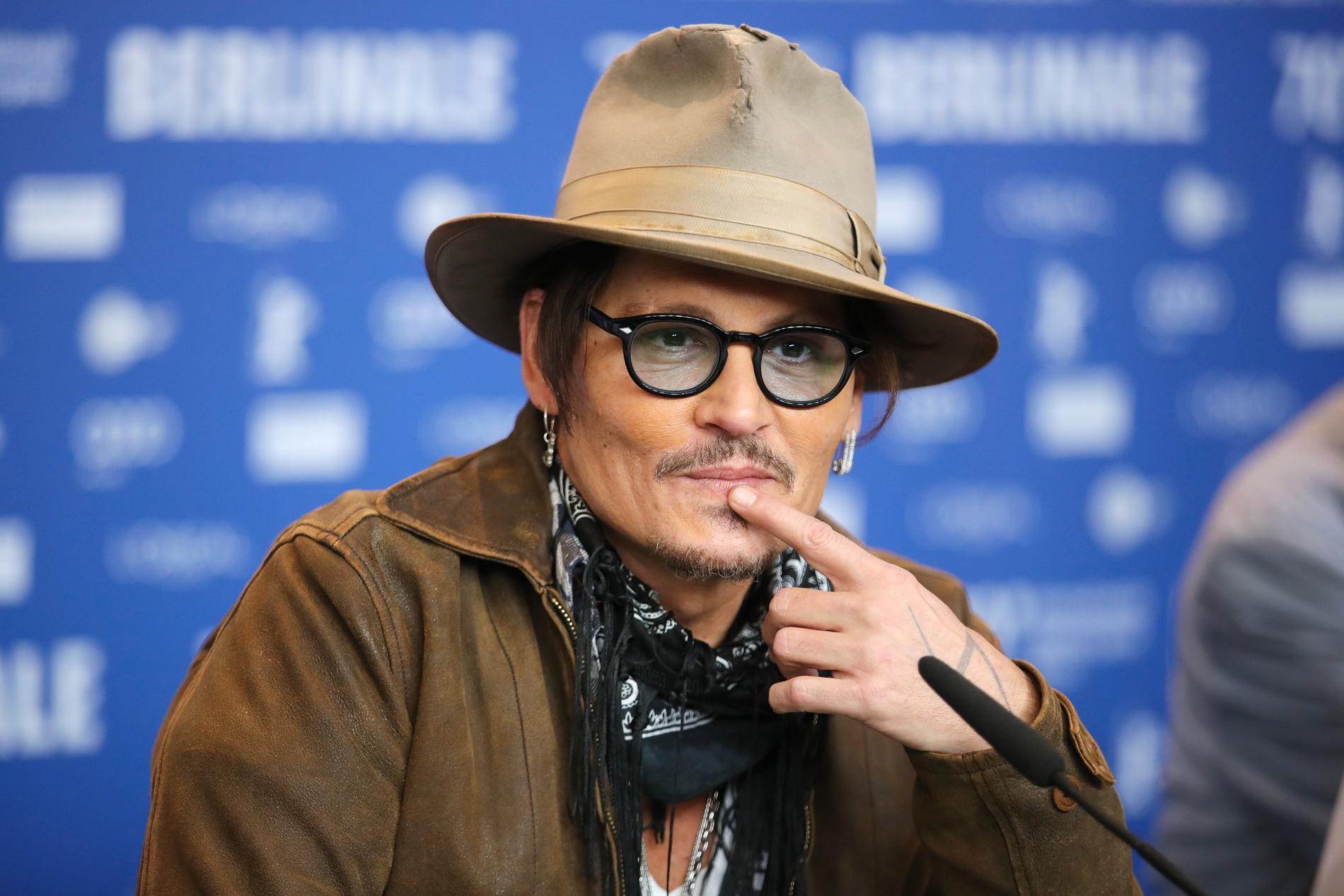 Johnny Depp under filmfestivalen i Berlin.