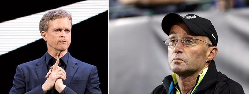 Mark Parker, Nikes president och Alberto Salazar.