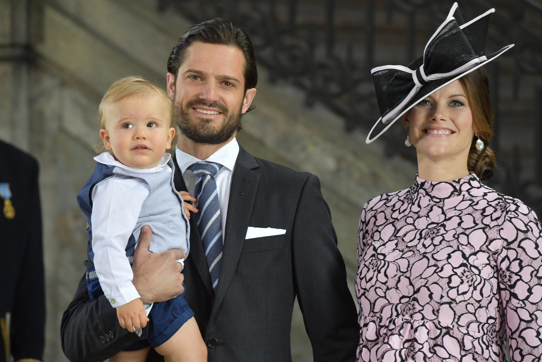 Prinsessan Sofia, prins Carl Philip och prins Alexander har fått en ny medlem i sin familj. Arkivbild.