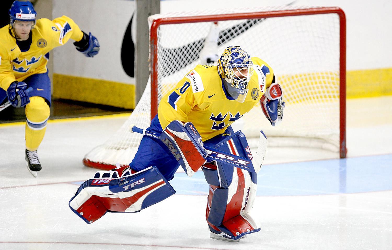 Henrik Lundqvist i Tre Kronor.