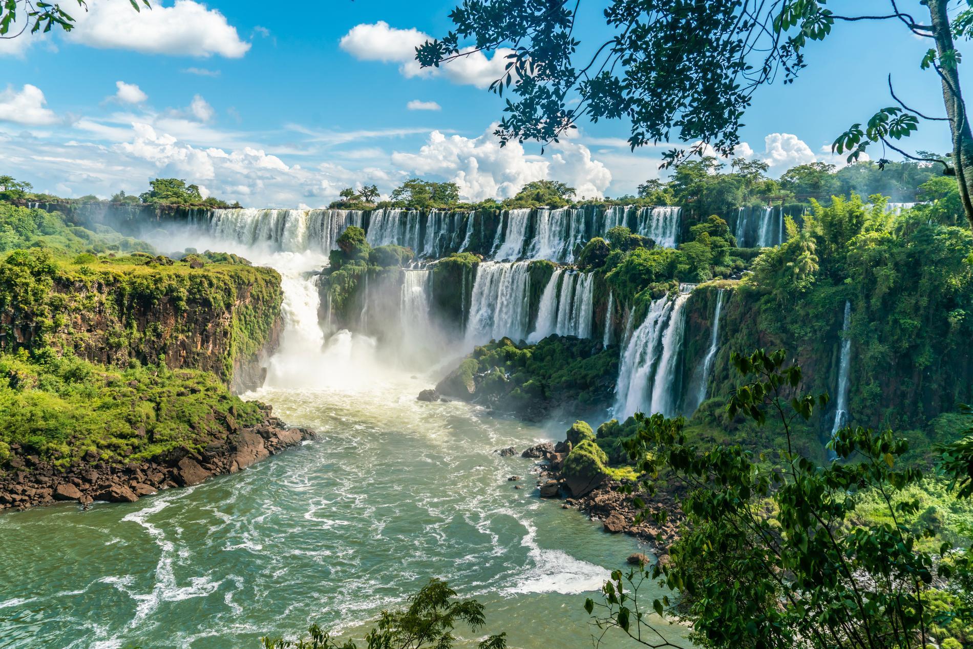 Resorna till Argentina ökar, här är Iguazúfallen i landet.