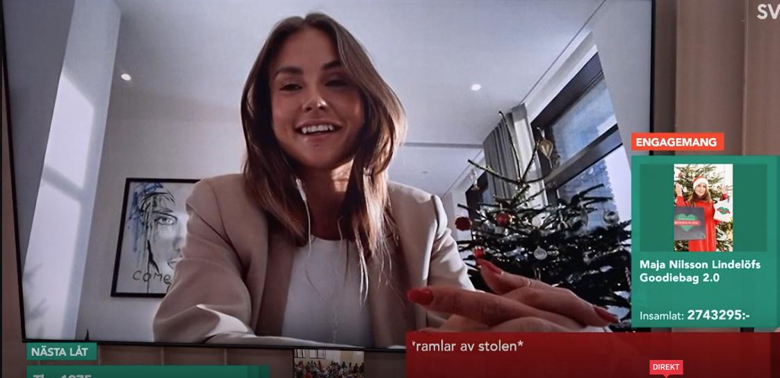 """Maja Nilsson Lindelöf samlade in nästan 3,6 miljoner kronor till """"Musikhjälpen""""."""