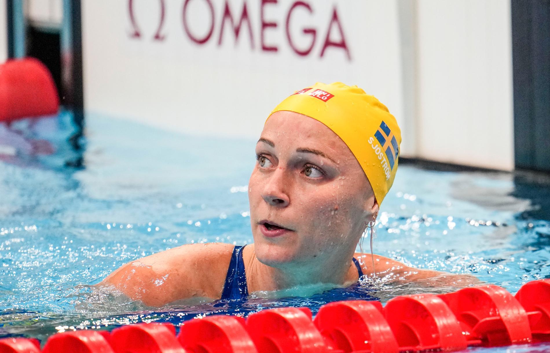 Sarah Sjöström är klar för OS-final på 100 meter fritt.