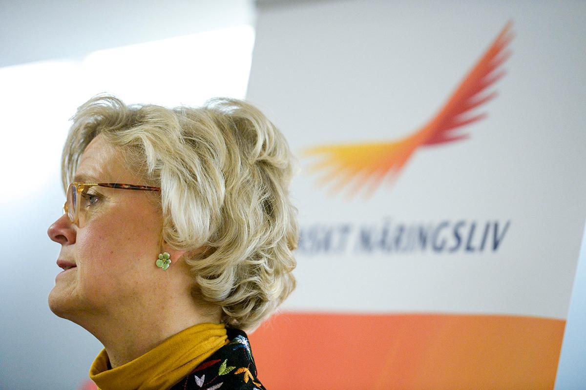 VILL SÄNKA LÖNERNA Carola Lemne, vd för Svenskt näringsliv, tycker att undersköterskor tjänar för bra.  I höst börjar avtalsrörelsen – den blir en kamp mellan arbetsgivare och verkligheten.