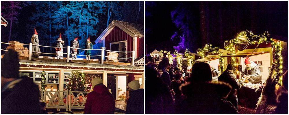 I Kolmården kan du fira jul med Bamse och hans vänner och gå på julmarknad.