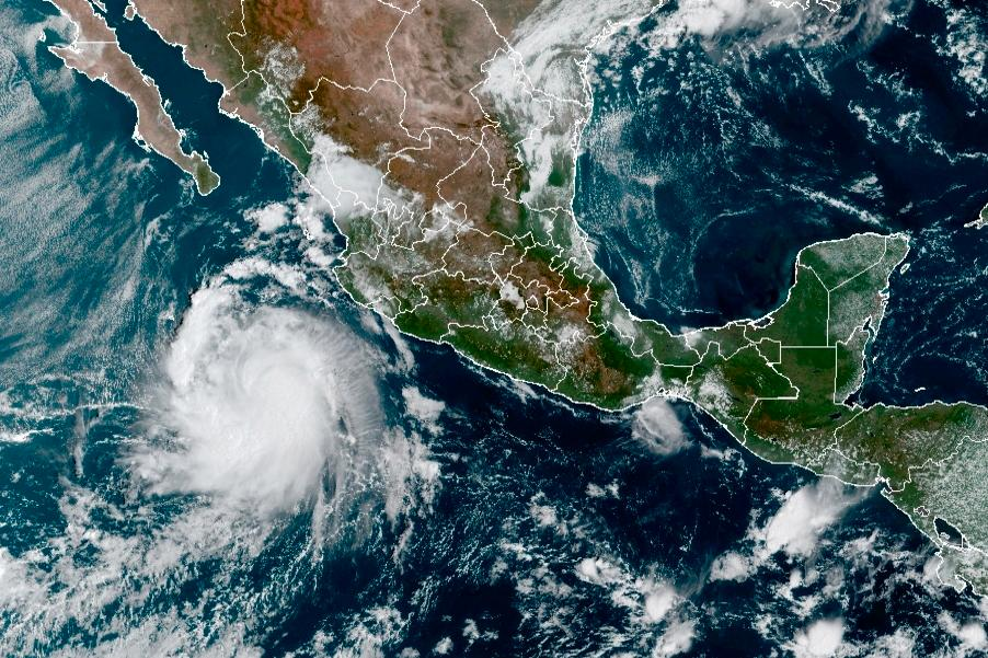 Orkanen Pamela har dragit in över Mexiko.