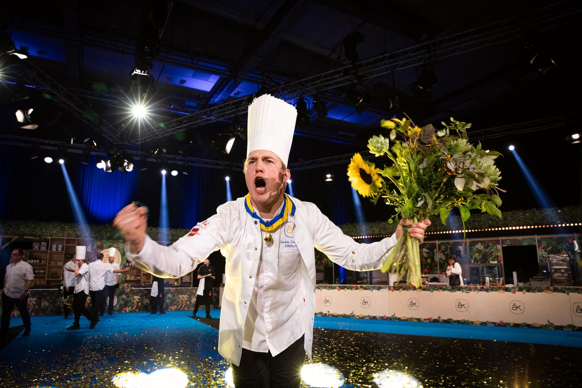 Gustav Leonhardt vann Årets kock 2021. Pressbild.