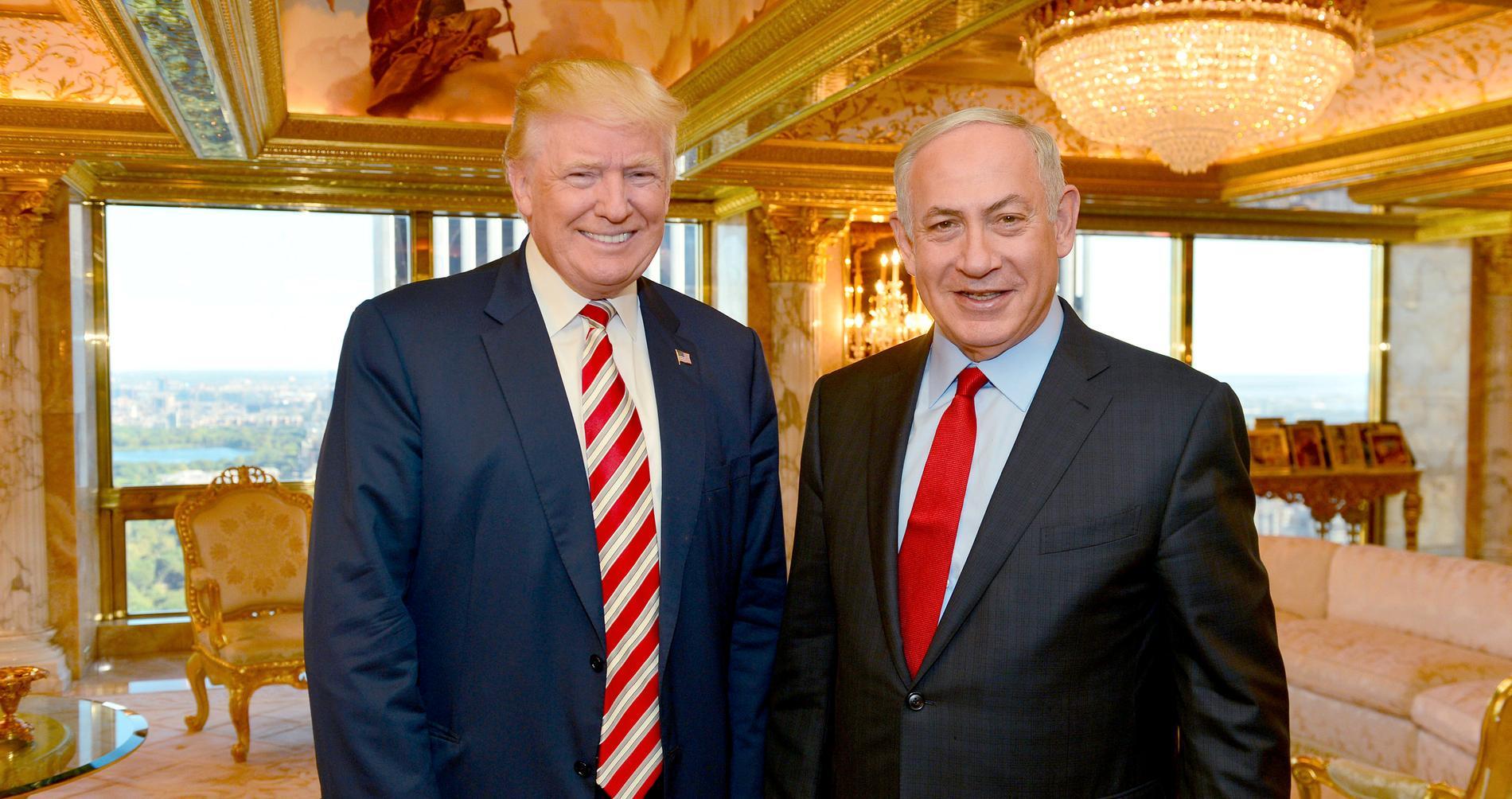 Donald Trump och Benjamin Netanyahu i New York i september 2016.