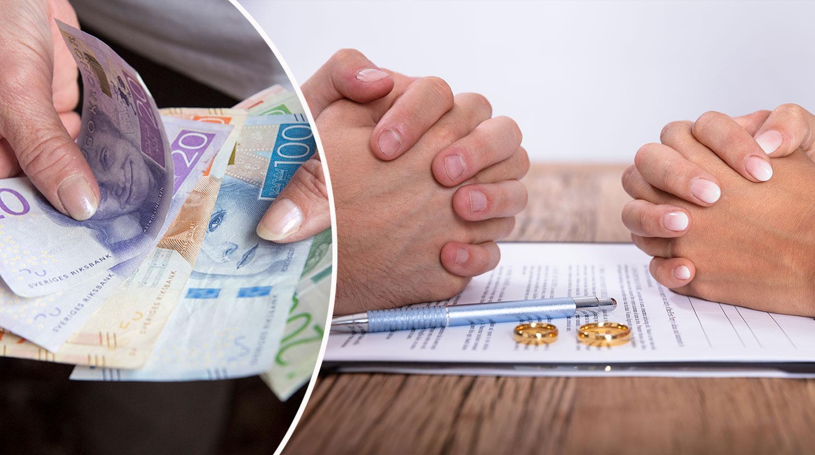 Rusta din plånbok för en skilsmässa.