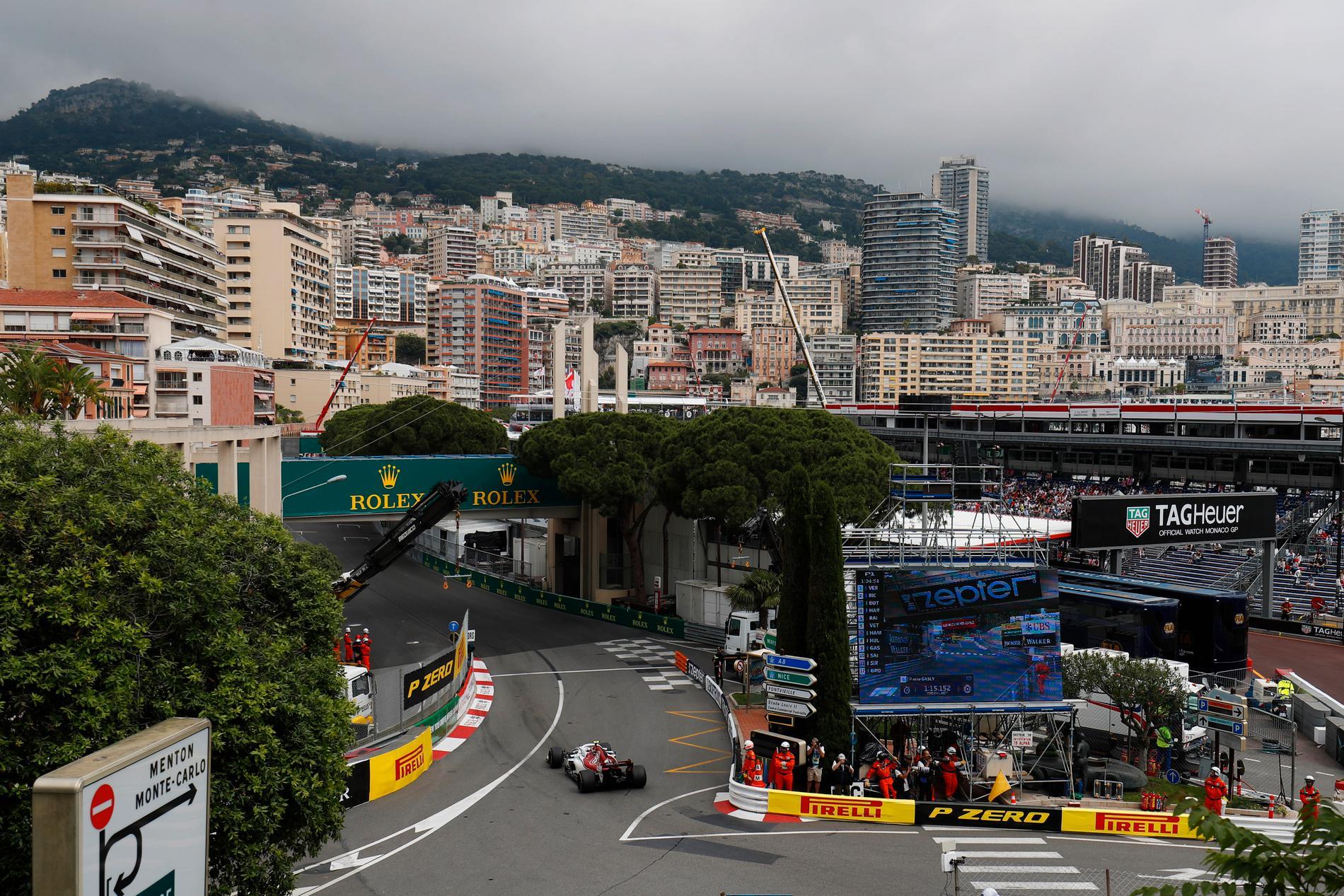 Notera att träningarna sker på torsdagen inför Monaco GP i F1