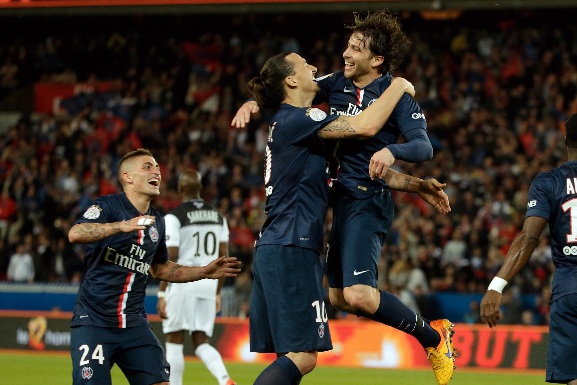 Maxwell och Zlatan i PSG.