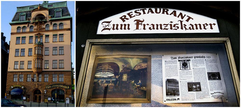 Zum Franziskaner är en av Sveriges äldsta restauranger.