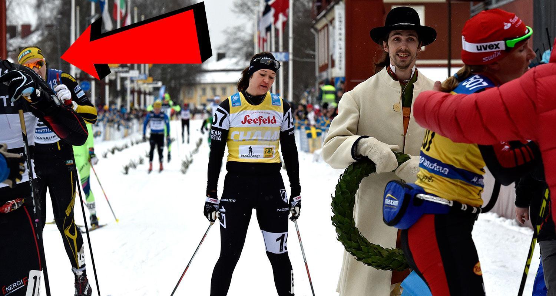 Britta Johansson Norgren stördes av bland andra Rasmus Ax (till vänster i gulsvart dräkt).