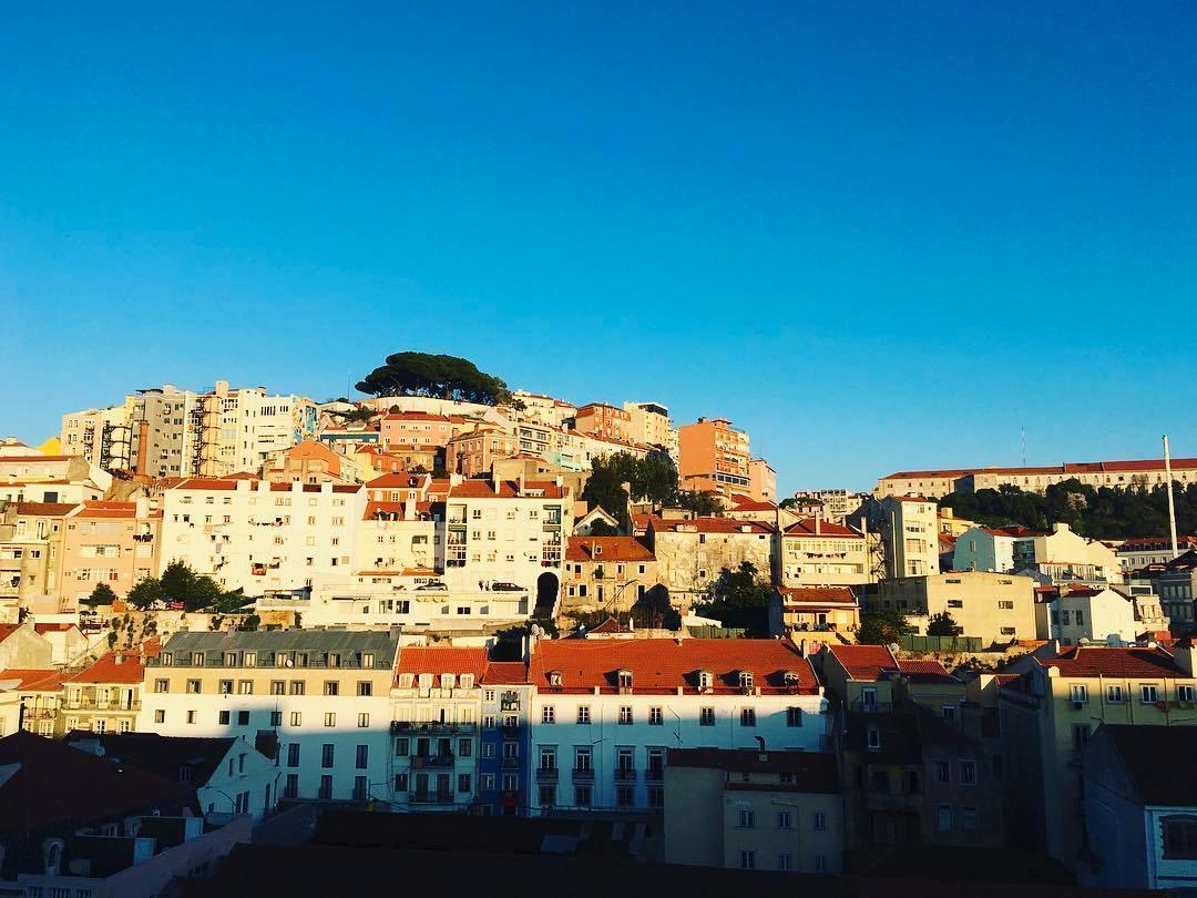 Lissabon är placerad på sju kullar, här är en av dem.