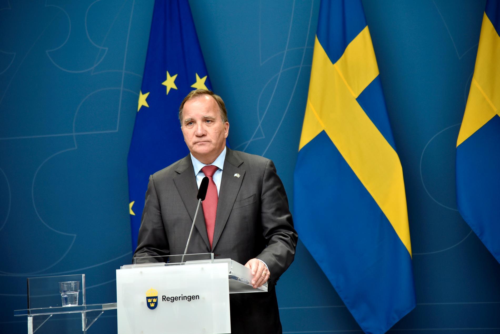 Statsminister Stefan Löfven (S) kan röstas bort på måndag förmiddag. Arkivbild