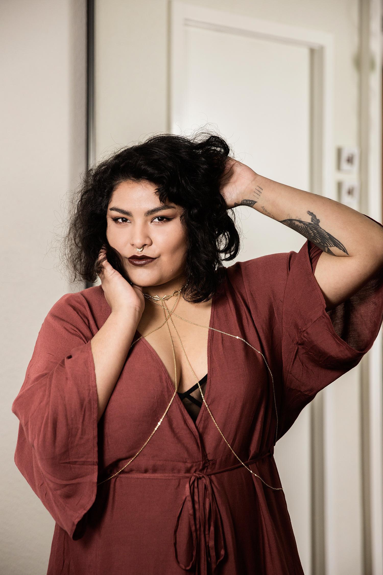 """""""Att posta bilder på våra kroppar handlar inte om att vilja ha komplimanger."""" säger Esmeralda."""