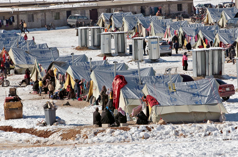 Ett flyktingläger i Libanon, ett land som tagit emot över en miljon flyktingar.