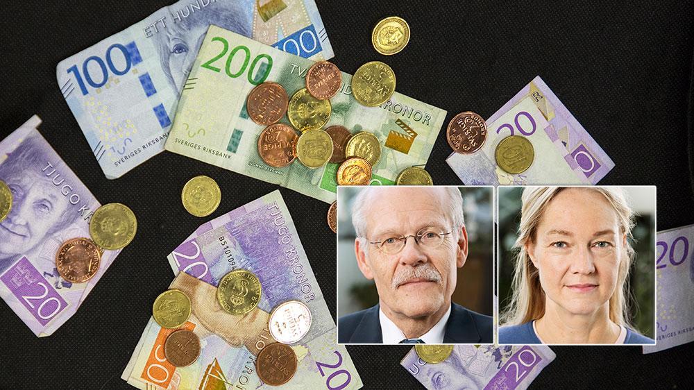 Eftersom banker och butiker nu i ännu högre grad än tidigare avvisar kontanter är Sverige i rask takt på väg mot en situation där allmänhetens betalningsmedel kontrolleras av kommersiella aktörer. Det är problematiskt, skriver Stefan Ingves och Cecilia Skingsley.